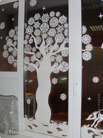Fotografie interior Anul Nou Cut Crăciun la ferestre Photo Paper 4