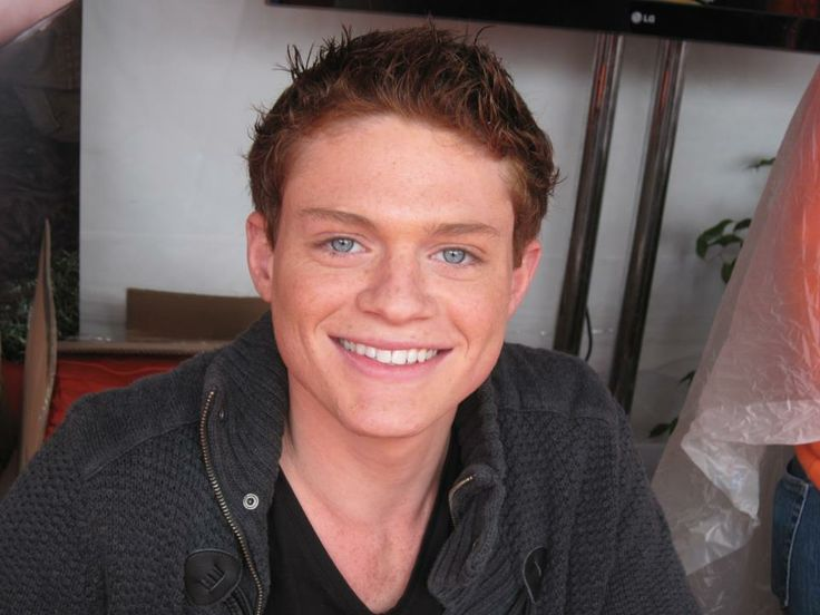 Sean Berdy from Switched at Birth. Those stunning blue eyes make me melt..and he's an adorable ginger like me :)