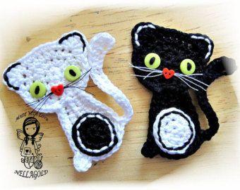 Crochet PATTERN Applique Mushroom DIY by NellagoldsCrocheting