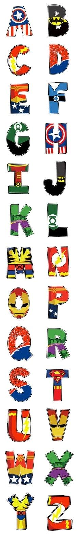 Alfabeto superhéroes