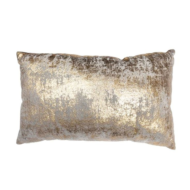 Gold Cloud Foil Print Cushion
