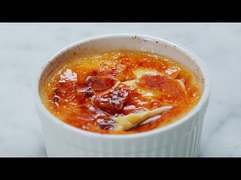 Maak je eigen overheerlijke crème brûlée in nog geen minuut! Bekijk hier hoe je het doet... - Zelfmaak ideetjes