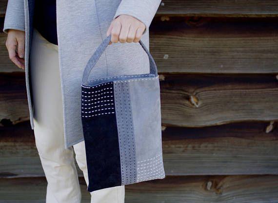 #leathertote #leatherbag #sashiko #sashikobag #suedebag #suedetote
