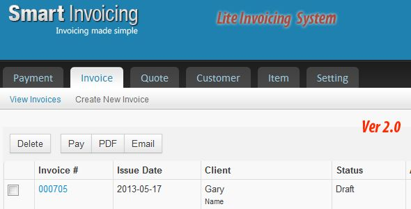 Lite Invoicing System Free Download