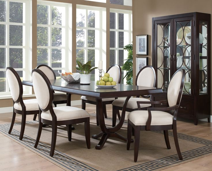 Dcor For Formal Dining Room Designs Luxury Wooden Tables And Window Glass