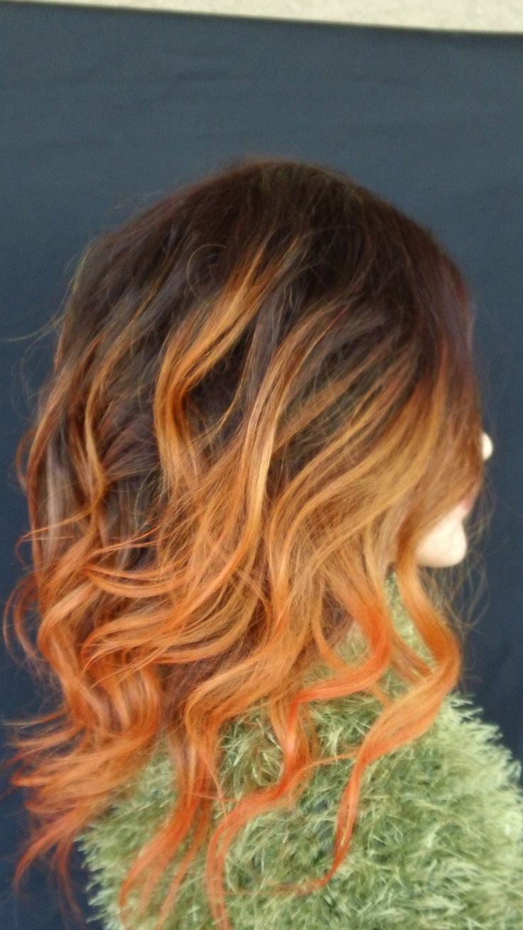 Orange Crush Ombre Hair Abduction Pinterest Style