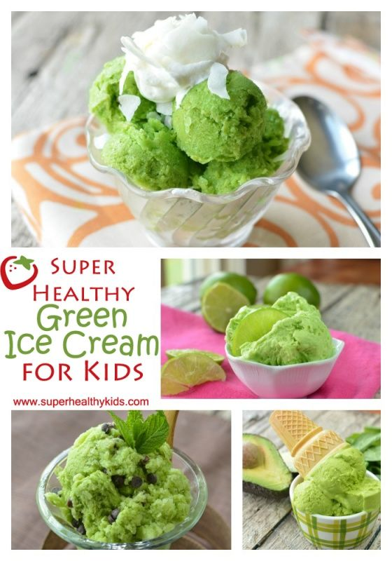 Super healthy ice cream for super healthy kids.