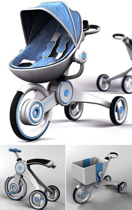 Babyoom (baby carriage that becomes a bike and a shopping cart)