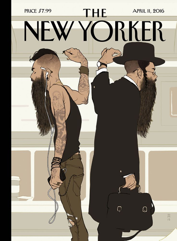 """The NEw Yorker April 11, 2016 - """"Superbeards can add gravitas to any face,"""" Tomer Hanuka says of his cover for this week's issue."""