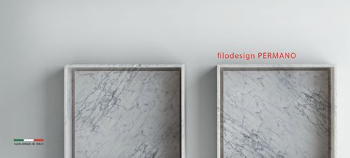 PERMANO - white marble sink Filodesign