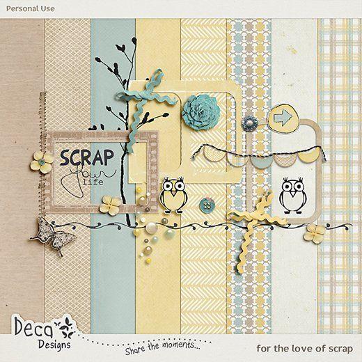 Quality DigiScrap Freebies: For the Love of Scrap mini kit freebie from Deca Designs