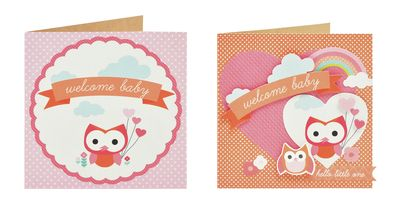 Little One Girls Cards Square