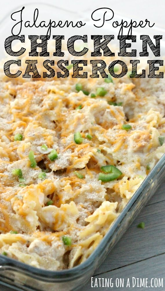 Jalapeno Popper Chicken Casserole recipe.  I'm about to share with one yummy and easy dinner idea. If you love those cheesy jalapeño poppers then you are going to love this dinner. It is inspired by those. Now to make my life easier I ...