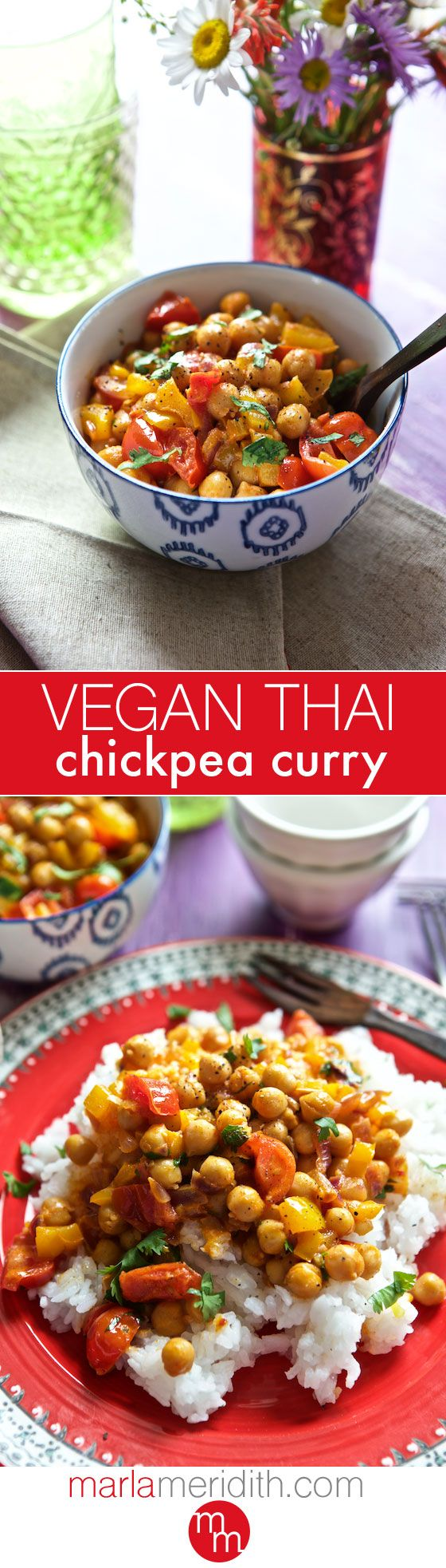 Vegan Thai Chickpea Curry | MarlaMeridith.com ( @marlameridith )