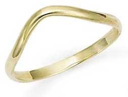 Gold Thumb Rings - 14k Gold Yellow 2mm Thumb Ring