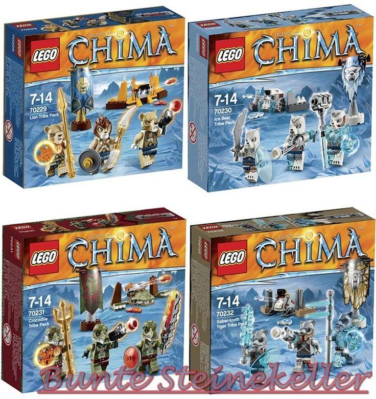 LEGO® Chima: 70232 & 70231 & 70230 & 70229 alle 4 neue Stämme Sets ! NEU & OVP ! in Jeux, jouets, figurines, Lego   eBay