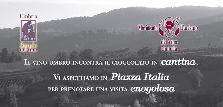 Umbria da leccarsi i baffi: il vino umbro incontra il cioccolato. In occasione di Eurochocolate 2015, ci trovate a Perugia per proporvi golose degustazioni di vino in abbinamento al Cibo degli Dei! http://www.stradadeivinidelcantico.com/2015/10/12/vino-e-cioccolato/