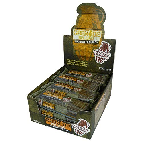 The Product Grenade Reload Protein Flapjacks Chocolate Browning, (12 x 70g Bars)  Can Be Found At - http://vitamins-minerals-supplements.co.uk/product/grenade-reload-protein-flapjacks-chocolate-browning-12-x-70g-bars/
