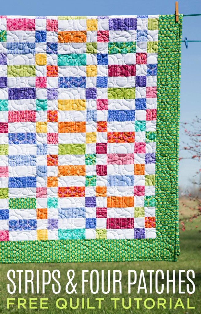 New Friday Tutorial: The Strips and Four Patches Quilt