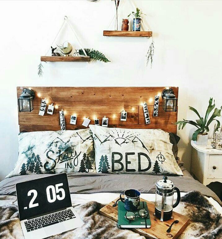 headboard & shelves
