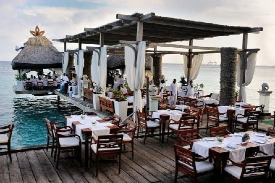 Most beautiful restaurant I've ever eaten at in Boca Chica, Dominican Republic... was even more gorgeous at night by candlelight!