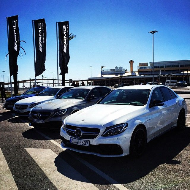 Bright and shiny #AMGs await: The new AMG C63, AMG C63 S, C450 AMG Sport. It's…