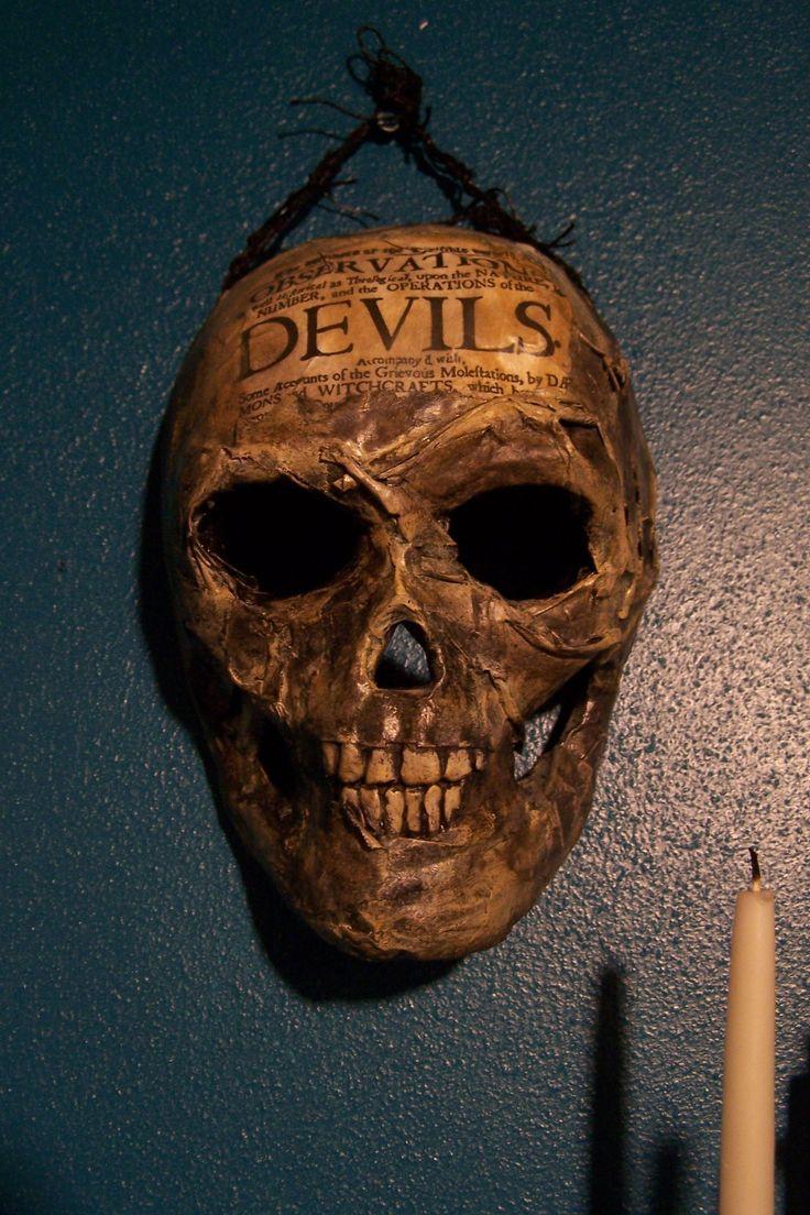 DIY Paper Mache' skull mask Halloween paper, Halloween