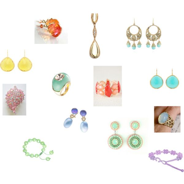 Light Spring jewelry by tinabee1967 on Polyvore featuring Modern Vintage, Talullah Tu, Coralia Leets, Kenneth Jay Lane, Cruciani, Fernando Jorge and Lola Rose