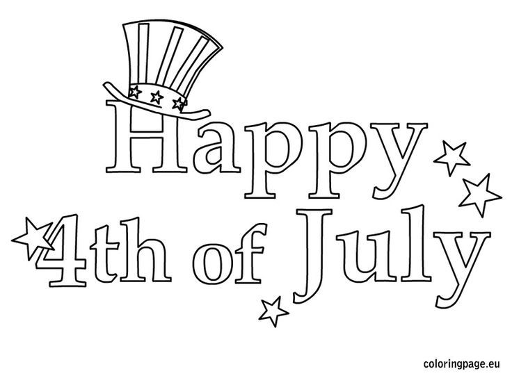 happy 4th of july coloring pages for kids - Free Printable 4th Of July Coloring Pages