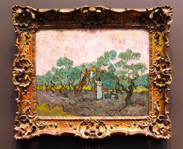 Vincent van Gogh, Dutch, 1853-1890, Woman Picking Olives, 1889, Oil on Canvas