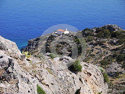 Small greek church near Loutro village, southern Crete.