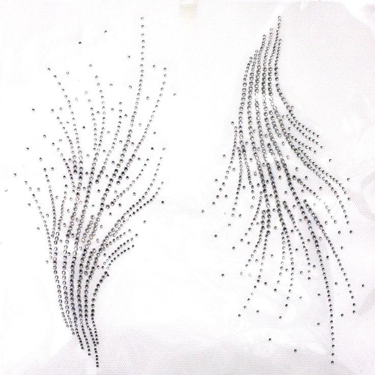 Rhinestone Iron on Transfer Hot fix Motif crystal Fashion Design line decoration in Hot Fix, Iron On Tools & Studs | eBay