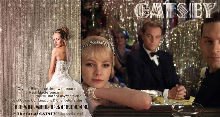 The Great Gatsby inspired Backdrop