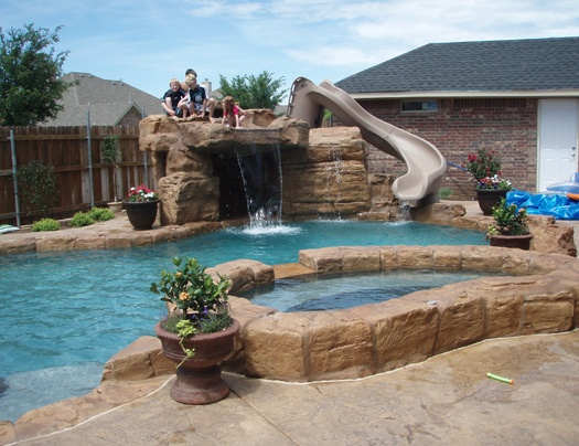 pool ideas replace diving board with something like this