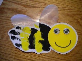 adorable hand art bee