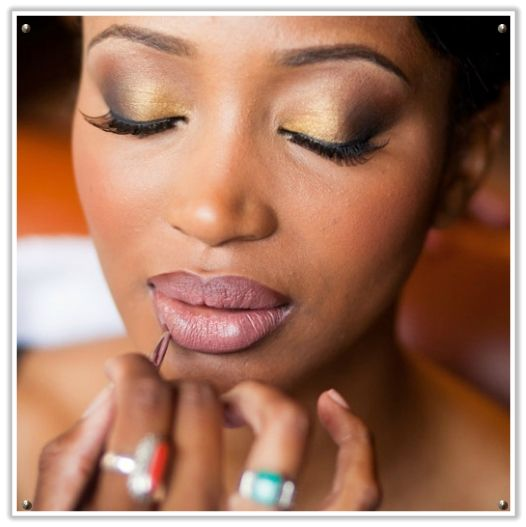 Wedding Makeup for Black Women   ... wedding industry face - the pink lady Kat of alternative wedding blog