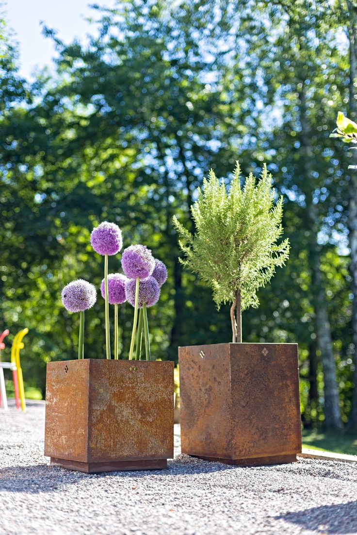 Made in Sweden. First Bloom by Late Blooming made in corten steel, availabel in two sizes.