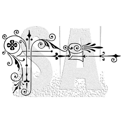 Tim Holtz Rubber Stamp SCROLL Stampers Anonymous J2-2998
