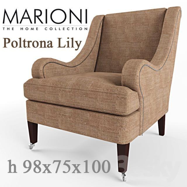 Elegant Armchair Marioni Poltrona Lily