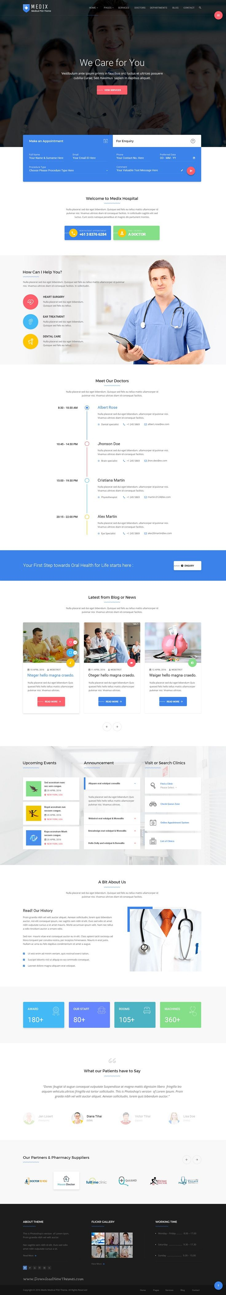 Medix is wonderful PSD Template for Medical, #Doctor and #HealthCare #website…