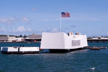 Arizona Memorial, Pearl Harbor and Punchbowl Sightseeing Tour Pearl Harbor, USS Arizona Memorial and Honolulu city tour Skip all the long lines! Navy launch to view the USS Arizona Memorial Downtown Honolulu tour, including Kawaiahao Church, King Kamehameha statue and Mission Houses Museum Drive through Punchbowl National Cemetery of the Pacific Free Waikiki hotel pickup and drop-off included $45