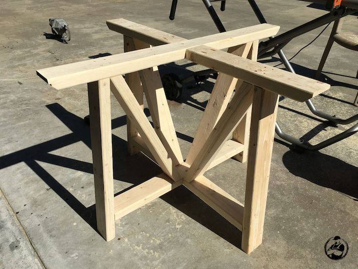 DIY Round Trestle Dining Table - Step 4