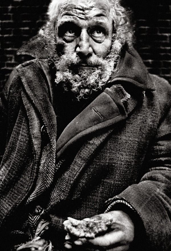 A series of images by John Claridge taken at the Salvation Army Hostel, Whitechapel Road.