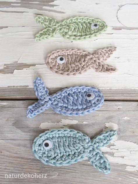 NaturDekoHerz: Urlaubsgrüße - DIY Upcycling Kalender und Landkarte + Häkelfische
