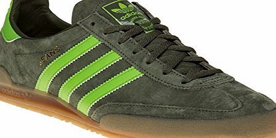 adidas  Jeans Trainers Green 12 UK A leisurewear sneaker based on an archival design from 1980, these mens trainers combine effortless style with premium materials. Made with a green suede upper for a supe (Barcode EAN = 4056567433665) http://www.comparestoreprices.co.uk/december-2016-week-1/adidas-jeans-trainers-green-12-uk.asp