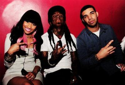 Nicki, Lil Wayne n Drake. 3 musketeers