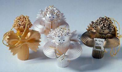 Decorazioni di Natale con la pasta semplici idee casalinghe fai da te