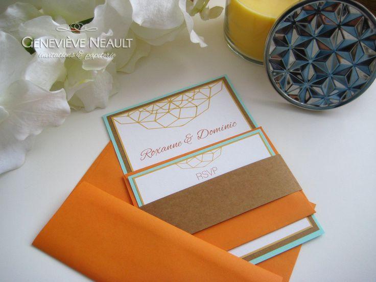 Style graphique et coloré - Geneviève Neault   Invitations et papeterie