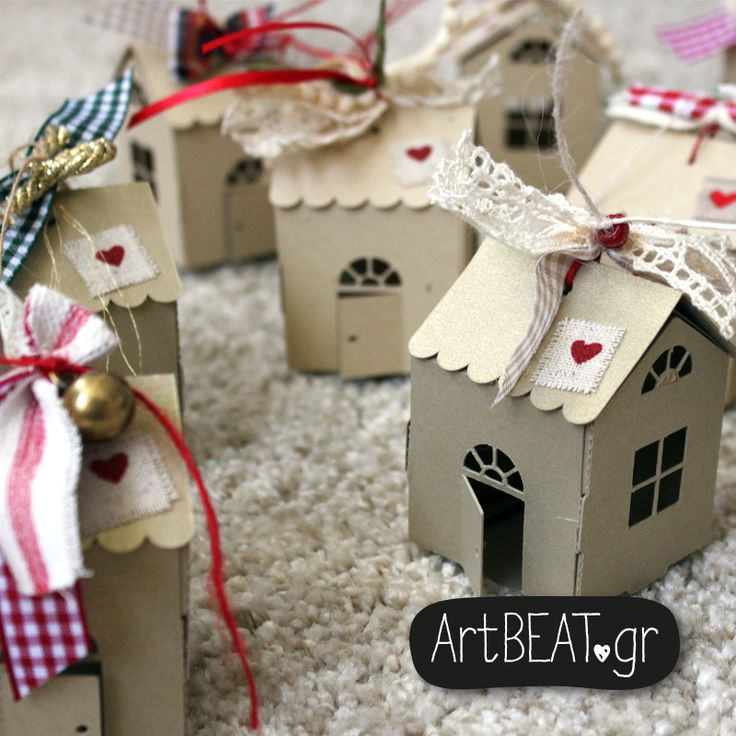 Handmade christmas little houses
