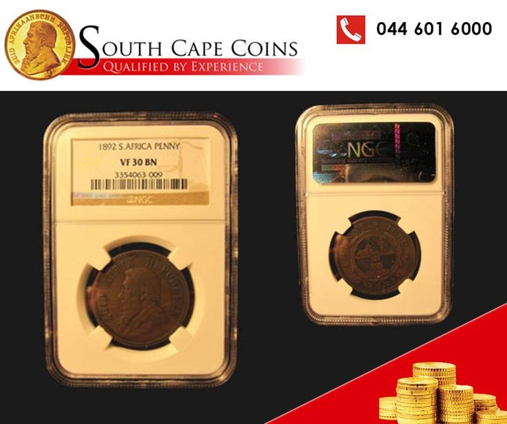 You have the opportunity of a lifetime to purchase the 1892 Bronze Penny at #SouthCapeCoins. Don't let it slip through your fingers! Call us on 0861 0 COINS. #BronzePenny #1892